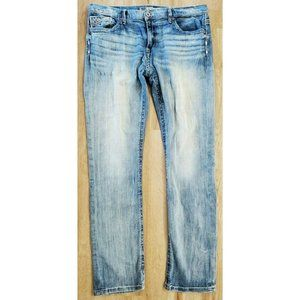 BKE Mens Carter Straight Blue Jeans Size 36L